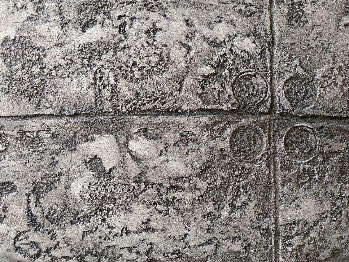 Эффект бетона штукатурка стены из керамзитобетона с облицовкой из кирпича